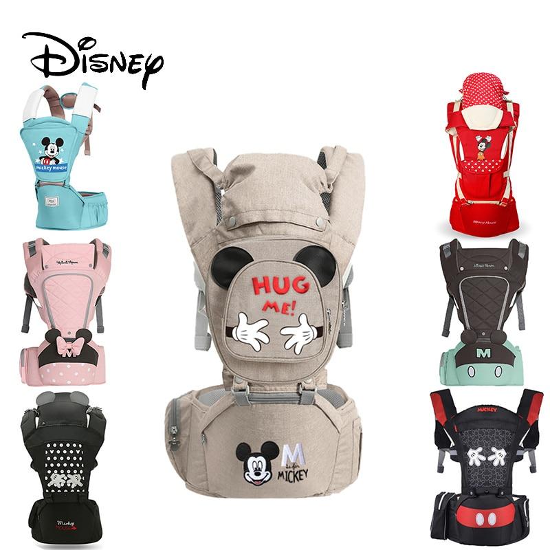 Disney Ergonomische Baby Träger Rucksack Infant Sling Kleinkind Taille Wrap Träger Baby Halter Känguru Hipsit Minnie neugeborene 360
