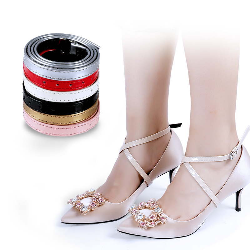 Bundle Shoelace For Women High Heels Suspender Holding Loose Anti-skid Brace Straps Lace Shoes Band Shoe Accessories