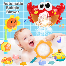 Игрушка для ванны Bubble Frog & Crabs, игрушка для ванны, ванна для купания, мыльница, игрушки для детей с музыкой, игрушка для воды