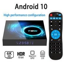 T95 H616 أندرويد 10.0 صندوق التلفزيون 6K واي فاي 2.4G 4GB 64GB يوتيوب رباعية النواة 1080P H.265 مشغل الوسائط مجموعة صندوق