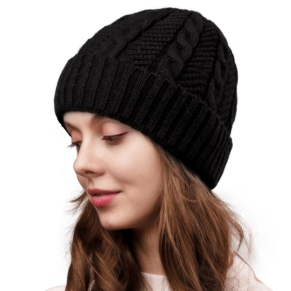 FURTALK Beanie Hat For Winter Women Men Knitted Skullies Beanies Warm Female Winter Autumn Cap