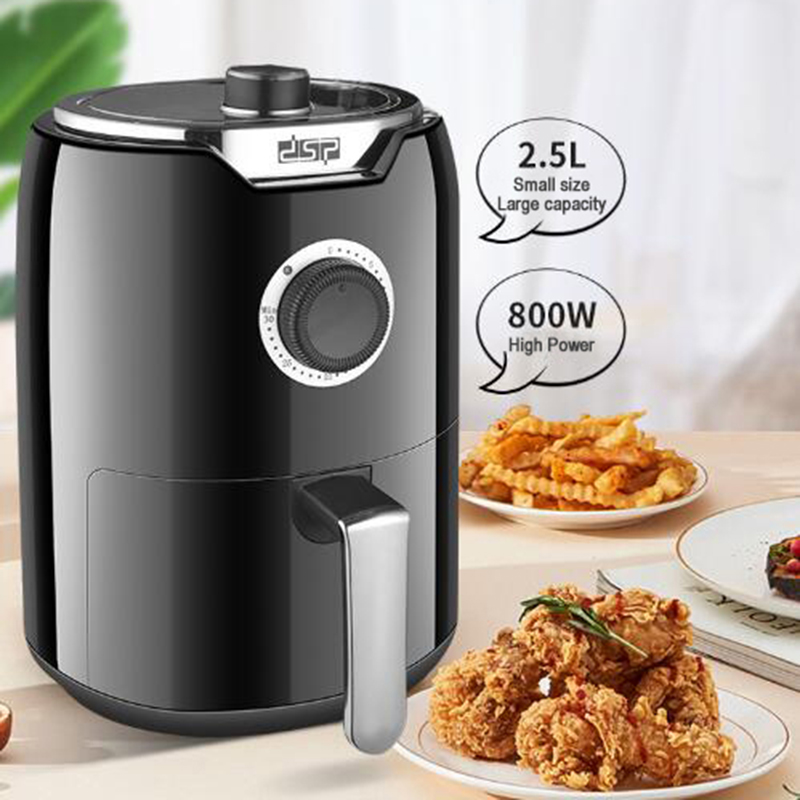 Household 2.5L Air Fryer Multi-Function Electric No Oil Mini Air Fryer Oven Small Baking Cake Pizza Chips Compact Design