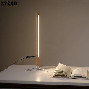 Image 5 - Nordic Minimalist Modern Floor Lamp Creative Site Lamp Personality Led Stand Light Bedroom Living Room Decor Wooden Floor Lights