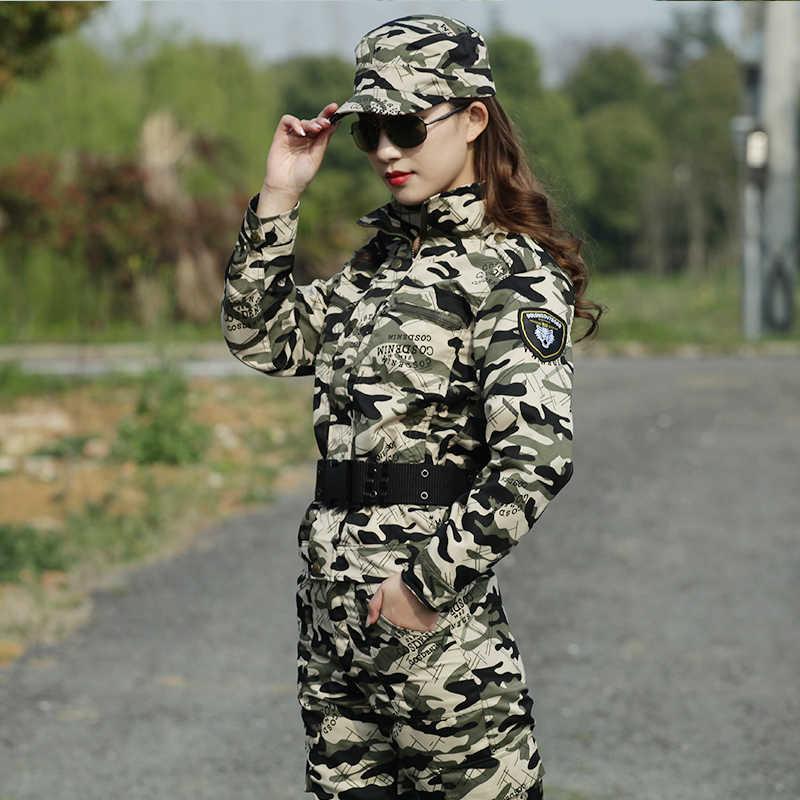 Kamuflase Baju Set Tentara Militer Seragam Pria Wanita CS Tempur Berburu Pakaian Set Militer Jaket + Celana Seragam untuk Pria