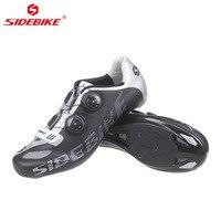 새로운 뜨거운 남자 도로 자전거 자물쇠 신발 ultralight 통기성 착용 사이클링 신발 전문 도로 자전거 야외 스포츠 사이클링 신발|사이클링 신발|   -