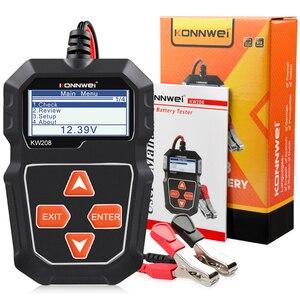 Image 5 - KONNWEI KW208 جهاز اختبار بطارية السيارة الرقمية 12 فولت 100 2000CCA التحريك نظام شحن اختبار أداة بطارية سيارة اختبار قدرة