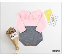 Baby Girls Clothes Autumn knitted Romper Set Infant Newborn Girl Cardigan Boys Sweater Cotton Jumpsuit For