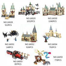 цены 16029 16030 16052 Bricks Magic Hogwort Castle Set Movie Harri Series Poter Children Building Blocks Kids Toys Gift Legoed 5378