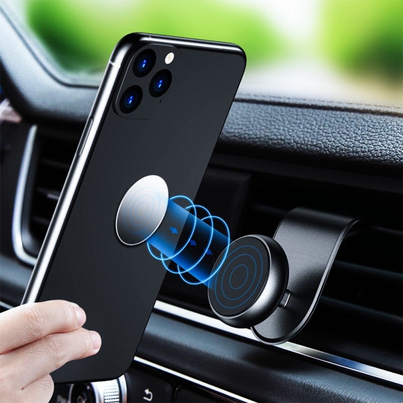 Magnetic Car Phone Holder For Phone In Car Air Vent Mount Holder 360 Degree L Shape Phone Holder Car Accessories