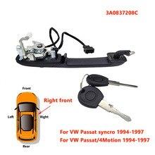 VW Passat B4 1994 1997 외부 도어 핸들 용 1 pcs 3A0837207C,3A0837208C,3A0839205A