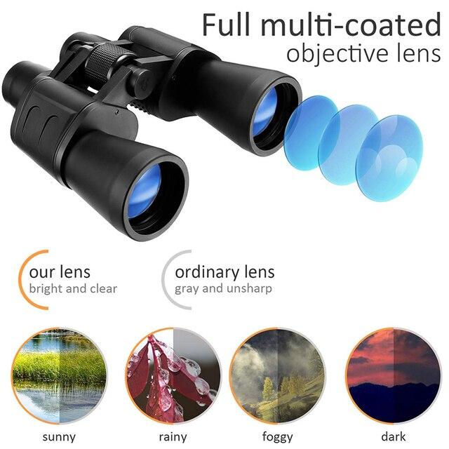 Купить телескоп 20x50 складной бинокль с hd ночным видением для наблюдения картинки цена