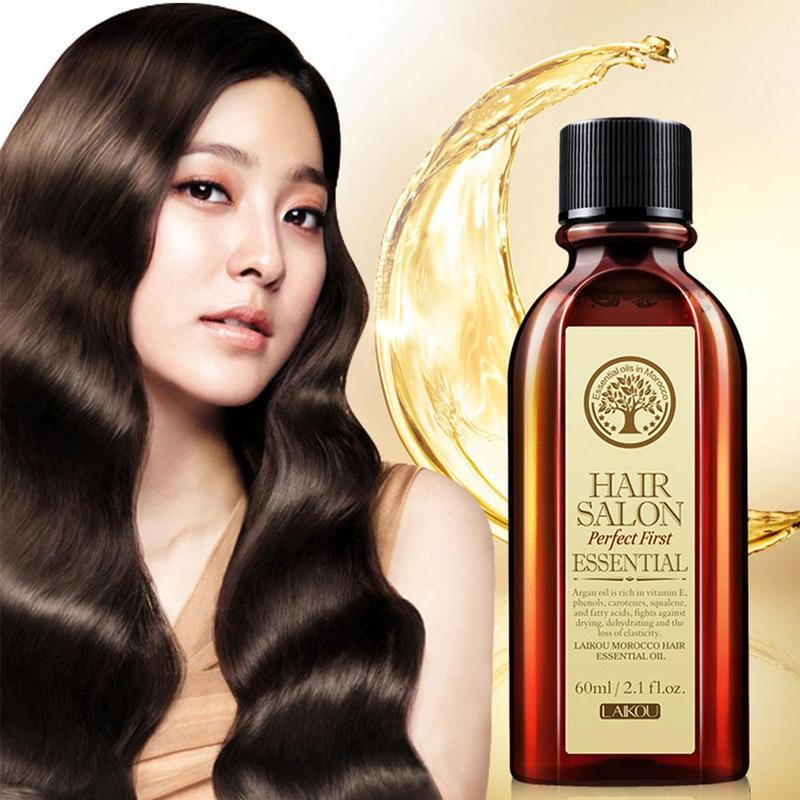 60ml Hair Care Essential Oil Nourish Moroccan Argan Oil Repair Dry Damage Hair Treatment