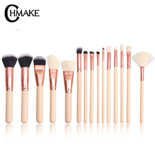 CHMAKE Rose Gold Professional Makeup Brushes Set Make up Brush Tools kit Eyeshadow Foundation Powder natural-synthetic hair jessup black silver professional makeup brushes set make up brush tools kit foundation powder blushes natural synthetic hair