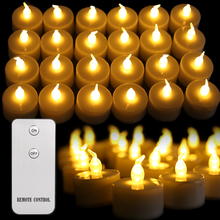 Candles Tealights Flameless Remote-Control Christmas-Decoration Dinner Battery-Powered