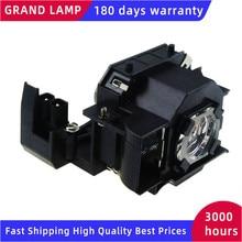 ELPLP33 / V13H010L33 lampe de projecteur de remplacement avec boîtier pour PowerLite Home 20/MovieMate 25/MovieMate 30S GRAND