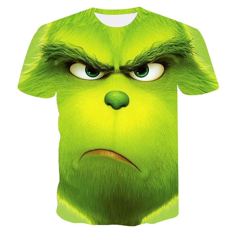 New 2019 Summer Fashion Men's T-Shirt Grinch Anime Tokyo Ghoul Ken Kaneki 3D Print Green Monster Men's T-Shirt