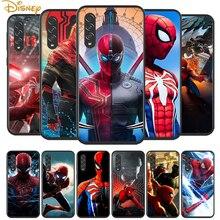 スパイダーマンヒーローサムスンギャラクシーA90 A80 A70 A60 A50 A40 A20 A2Core A10 M31 M21 M60 M40 M30黒電話ケース