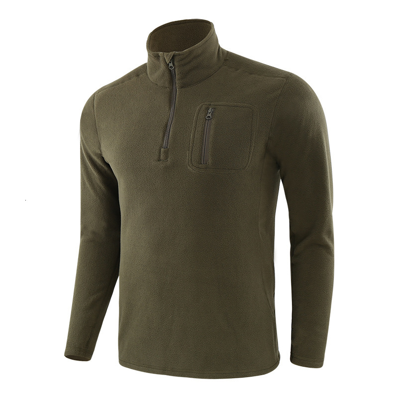 Men's Outdoor Hiking Warm Fleece Jacket Liner Army Fans Military Training Tactical Jackets Autumn Winter Windproof Pullover Tops