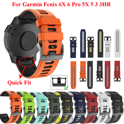 JKER 22 26MM Quick fit Watchband Strap for Garmin Fenix 6X Pro Watch Silicone Easyfit Wrist Band For Fenix 6 Pro Watch Strap
