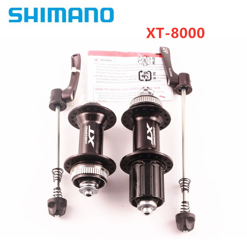 <font><b>SHIMANO</b></font> XT-M8000 MTB <font><b>32</b></font> holes Center lock hub a pair with quick release for 8/9/10 /11speed cassette bike bicycle image