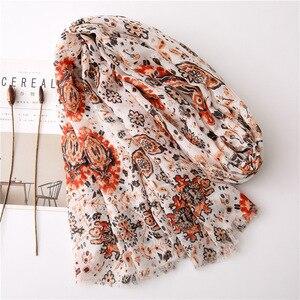 Image 2 - Écharpe longue avec imprimé mexicain, de styliste ethnique, écharpe musulmane, écharpe dhiver, commandes étrangères