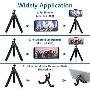 Image 3 - صغيرة مرنة الإسفنج الأخطبوط ترايبود 360 درجة قابل للتعديل السفر كاميرا صغيرة محمولة الوقوف متوافق مع هواتف محمولة ، كاميرات الرياضة