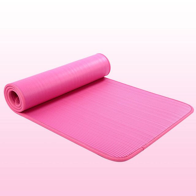 New 10mm Thickened Non-slip 183cmX61cm Yoga Mat NBR Fitness Gym Mats Sports Cushion Gymnastic Pilates Pads With Yoga Bag & Strap