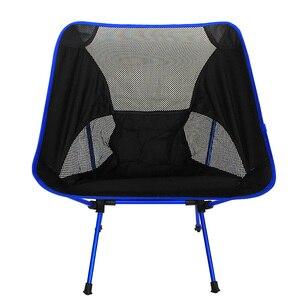 Image 5 - Chaise portative de maille dalliage daluminium de haute qualité pour la pêche Camping Sports de plein air chaises pliantes de Barbecue ultra léger