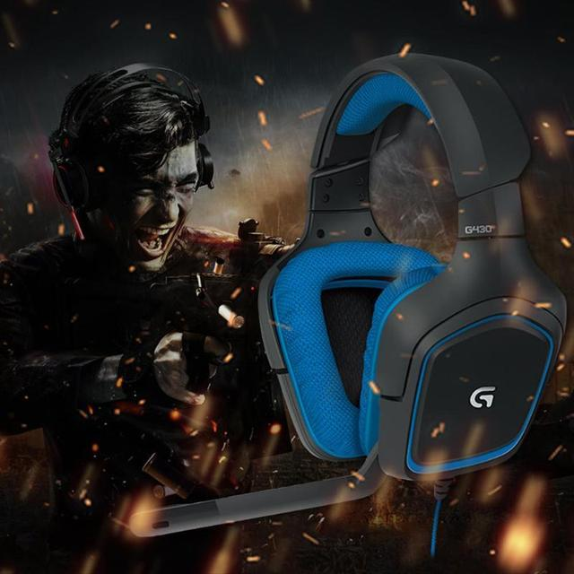 Logitech G430 USB Wired 7.1 Surround Adjustable Noise-Cancelling Headset Logitech Professional Gaming Headset high quility 5
