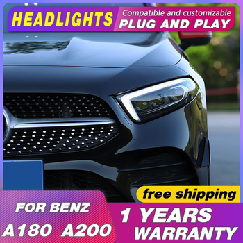car styling Head lamps For Benz  A-Class W177 For Benz A180 A200 headlights 2019 2020 All LED head light DRL Bi-LED Lens