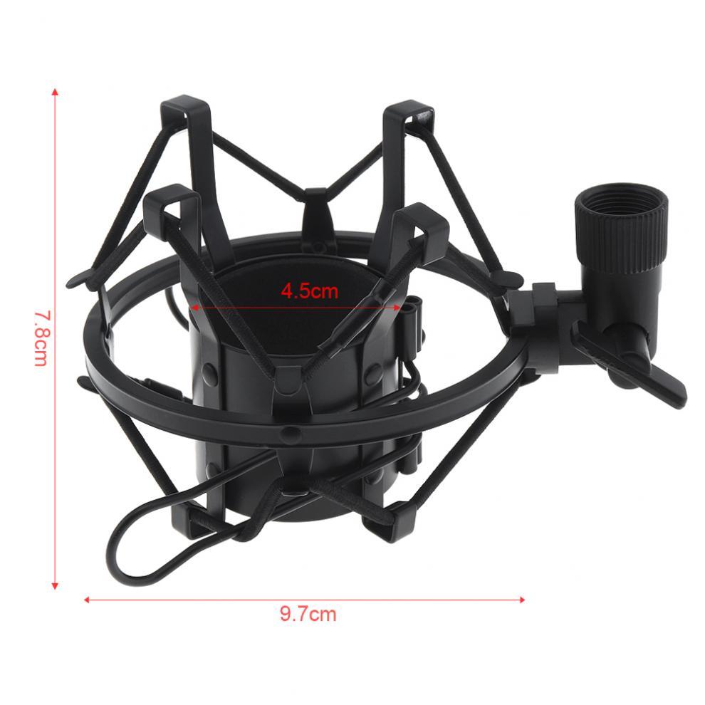 Металлический Студийный микрофон с зажимом для записи паука, подставка для микрофона с медной передачей для компьютера, конденсаторный мик...