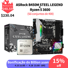 STEEL LEGEND Motherboard-Suit Cooler Socket Am4 3600-Cpu Asrock B450m Amd Ryzen R5 New