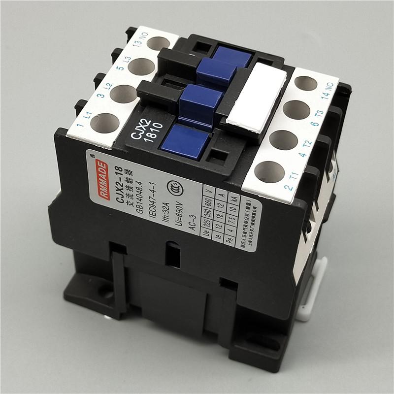 H18ddc312d3e04559a42515b6f5b14be4h - 1pcs CJX2-1810 LC1 AC Contactor 18A 3 Phase 3-Pole Coil Voltage 380V 220V 110V 36V 24V 50/60Hz Rail Mounted 3P+1NO Normal Open