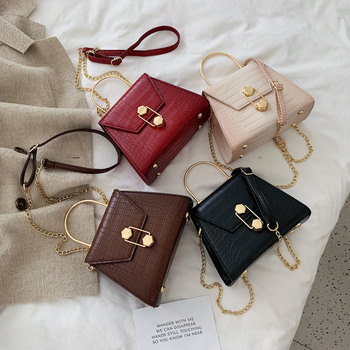 Stone Pattern PU Leather Crossbody Bags For Women   5