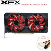 XFX AMD Radeon RX560 4GB DDR5 Video Karte AMD GPU 128 Bit RX560D Gaming PC Grafikkarte Desktop-Computer gamer Verwendet RX560 Karte