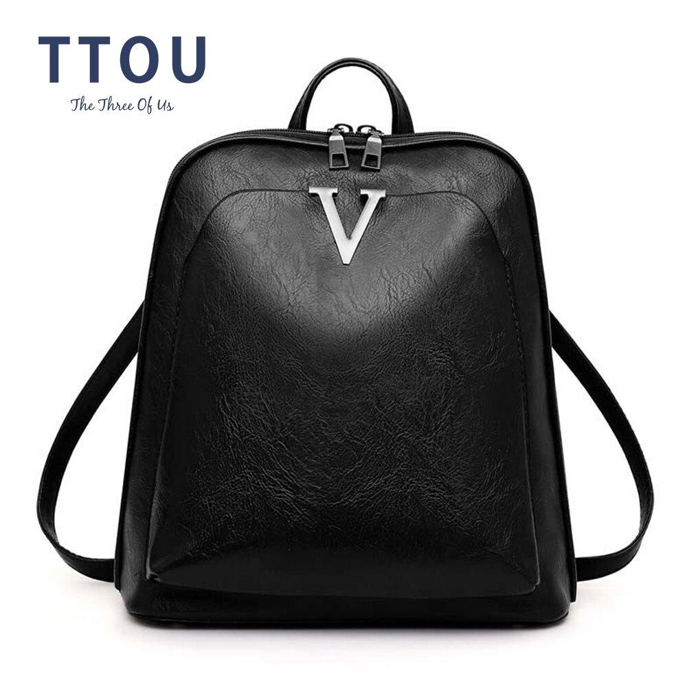 2020 Fashion Women Backpack High Quality Youth Soft Leather Backpacks For Teenage Girls Female School Shoulder Bag Bagpack