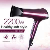 Hair dryer high-power electric hair drier negative ion cold hot air and quiet domestic hair dryer professional foldable handle