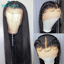 13X4 Lace Front Human Hair Wigs Silky Straight Brazilian Remy Frontal Wig Pre Plucked With Baby Hair For Women xcsunny