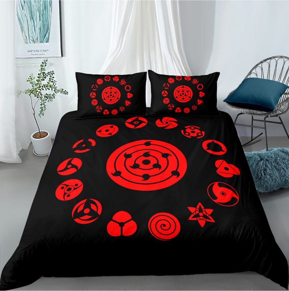 Duvet-Cover-Set Bedding-Sets Naruto Anime Childrens-Gifts Pillowcase Kids Boys Japan