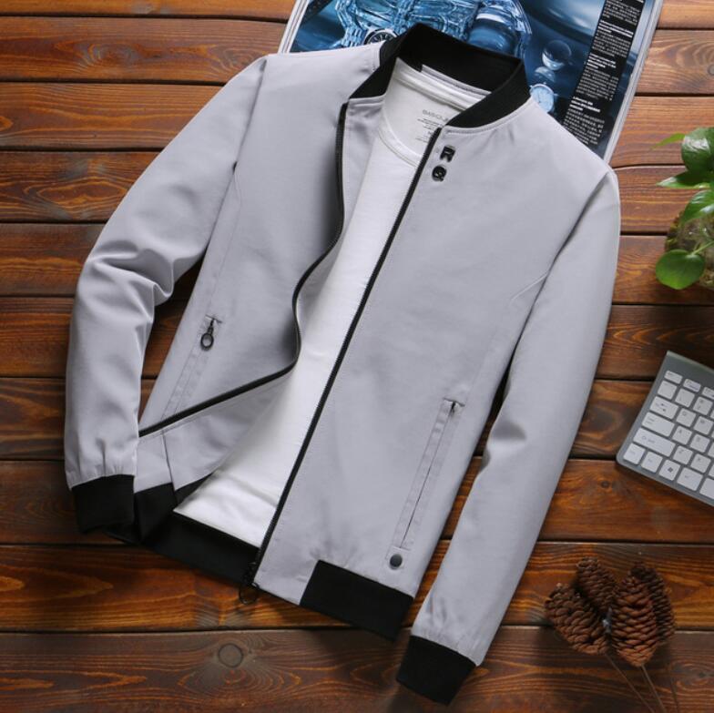 Hot 2020 Men Thin Jacket Mens Jackets Male Casual Zipper Summer Jacket Men Spring Casual Outwear