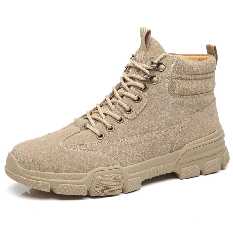Martin boots  men's American style trend high help versatile tooling boots military boots leather breathable men's boots