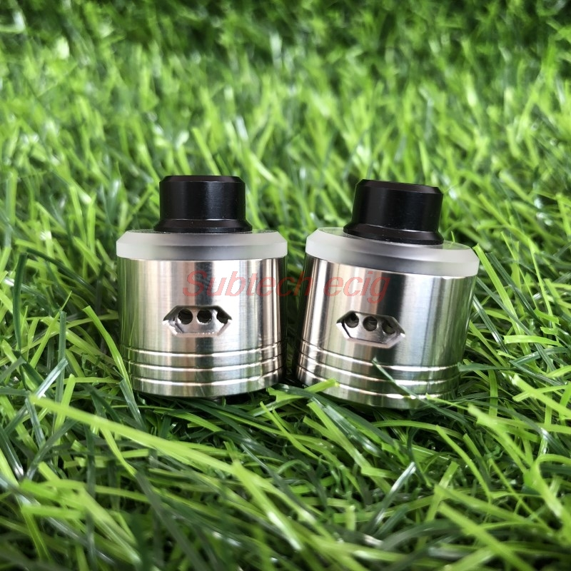 Newest Skyfall Rda 316 SS 22mm BF Pin Atomizer Tank 6 Level Side Airflow System With 510 Drip Tip Clear PC Cap Vs 528 Goon Rda