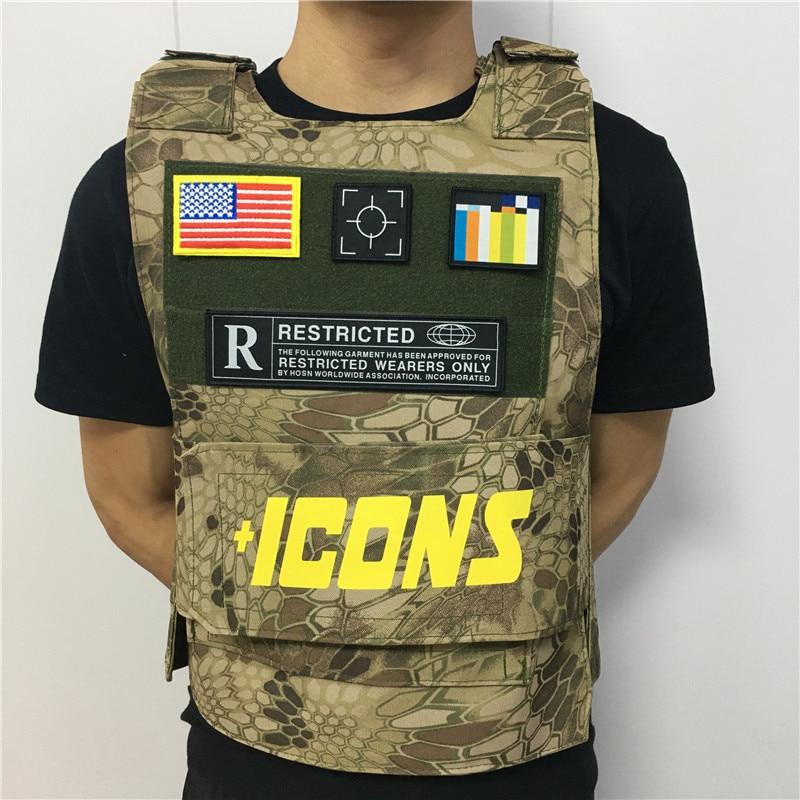 Como Rapper Hiphop MC VEST RAPPER BAR TANK TOP Fashion New Design Street Fashion ICONS Military Militari Tactic Tactical Vest