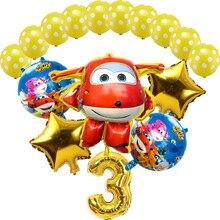 16 pçs 3d super asas brinquedos ballons 2.8g látex 32 polegada número ballon decorações da festa de aniversário crianças brinquedo do chuveiro bebê globos