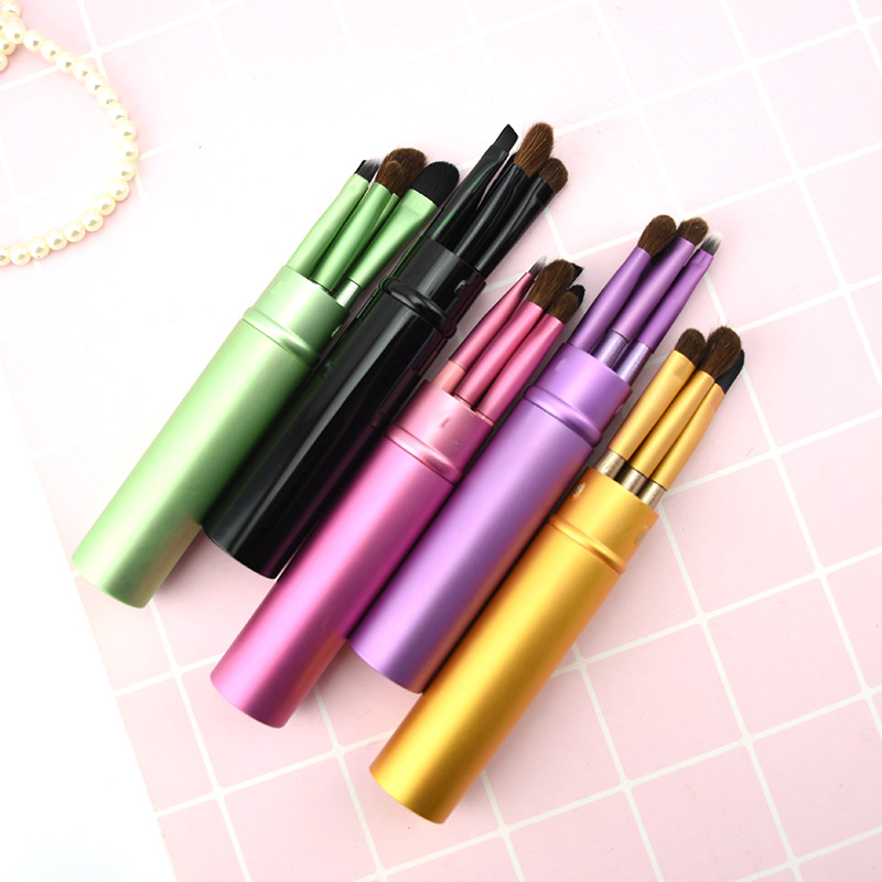 5pcs Professional Mini Eye Makeup Brushes Set Smudge Eyeshadow Eyeliner Eyebrow Brush Lip Travel Portable Make Up Brush Kit