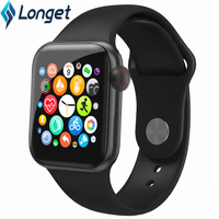 Longet Bluetooth 5.1 Smart Watch 1.3 IPS Full Screen Touch Blood Pressure Watch Heart Rate Sport Smart watch for IOS Android