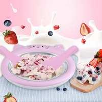 Neue Mini Cartoon Eismaschine Gebraten Joghurt Maschine Sommer Kühles Eis Machen Eis Rolle Maschine Für Kinder lustige-in Eismaschinen aus Haushaltsgeräte bei