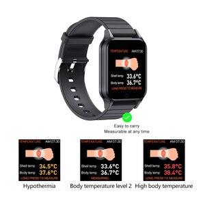 Image 3 - T96 temperatury ciała Smart Watch mężczyźni kobiety pulsometr pomiar ciśnienia krwi Bluetooth inteligentny dla Android IOS