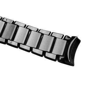 Image 3 - 22mm 24mm ceramiczna watchband czarna opaska na nadgarstek błyszcząca i matująca bransoletka dla AR1451 1452 męska zegarek akcesoria
