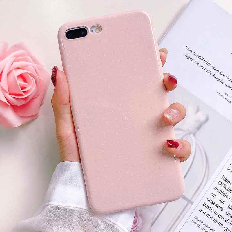 Moda bling doces cor caso para iphone 11 pro max xr xs x casos capa de silicone macio para iphone 6 s 7 8 plus glitter